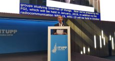 عمرو طلعت يلقي كلمة مصر بالمؤتمر