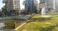 اهدار للمياه بميدان مصطفى محمود