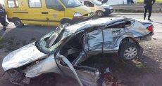 حادث مروع لسيارة اخترقت مركز تسوق بروسيا