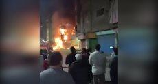 حريق مطعم بفيصل