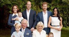 الأمير تشارلز مع عائلته