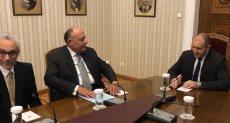 وزير الخارجية سامح شكرى مع رئيس جمهورية بلغاريا