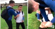 بريطانى يعتدى على طفل سورى لاجئ