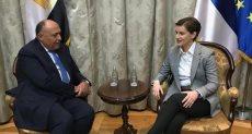 وزير الخارجية ورئيسة وزراء صربيا