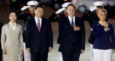 الرئيس الصينى يصل بنما