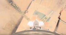 لحظة إطلاق مركبة سويوز الروسية