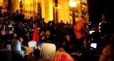 مظاهرات بمحيط البرلمان المجرى