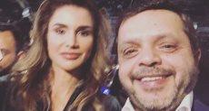 """""""هنيدي"""" مُعلقًا على صورة تجمعه بالملكة رانيا """"من أجمل الصور اللي خدتها"""""""