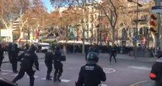 اشتباكات فى إسبانيا