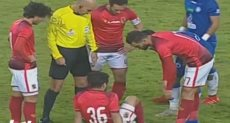 لحظة اصابة محمد محمود