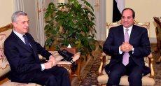 الرئيس السيسى والمفوض السامى للأمم المتحدة لشئون اللاجئين