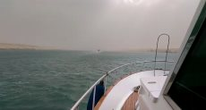 نشاط الرياح بالمجرى الملاحى لقناة السويس