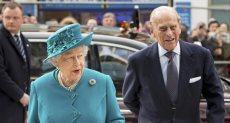 الامير فليب وزوجته الملكة إليزابيث