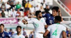 جانب من مباراة السعودية واليابان