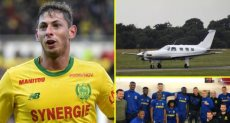 طائرة اللاعب الأرجنتيني