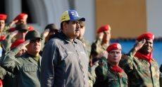 الرئيس الفنزويلى مادورو خلال الاحتفال