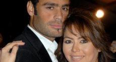 لقاء الخميسى وزوجها الكابتن محمد عبد المنصف