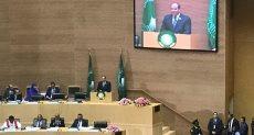 الرئيس السيسي خلال قمة الاتحاد الأفريقي