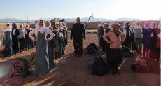 رئيس مدينة ابو دريس مع الطالبات