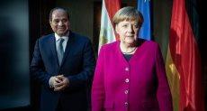 الرئيس السيسى والمستشارة الألمانية