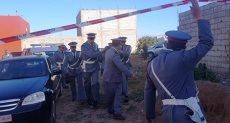 المتهم مع الشرطة المغربية
