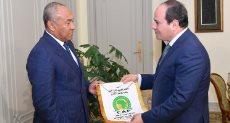 الرئيس عبد الفتاح السيسى ورئيس الكاف