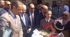 جانب من زيارة وزير التعليم لأحدي مدارس سوهاج