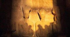 تعامد الشمس على وجه رمسيس الثانى بأبوسمبل