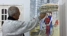 أحد إبداعات الفنان التشكيلى رجب عامر