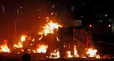 جانب من تفجير السيارة المفخخة فى الصومال