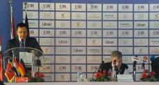 خالد مرتجى خلال المؤتمر