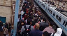 توقف حركة مترو المرج -  حلوان بسبب الأمطار