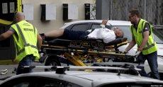 نقل المصابين فى حادث الهجوم على مسجد بنيوزيلندا