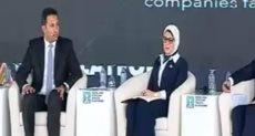 وزيرة الصحة فى ملتقى الشباب العربى والأفريقى