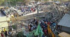 انهيار مبنى مكون من 4 طوابق في مدينة دارواد بولاية كلرناتكا جنوب غرب الهند