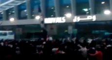 استقبال جماهير الزمالك لبعثة لكوماندوز اليد بالمطار