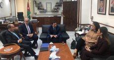 وزير التجارة الأردني خلال المباحثات مع الجانب المصري