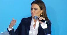 وزيرة الاستثمار والتعاون الدولى خلال اللقاء