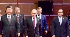 الرئيس السيسى مع قادة منتدى الحزم