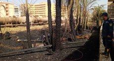 السيطرة على حريق بالقرب من حوش الفرز من الالبومات