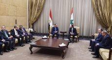 الوفد المصرى ونظيره اللبنانى