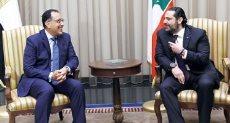 سعد الحريرى ومصطفى مدبولى