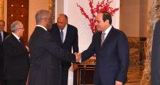 جانب من استقبال الرئيس السيسي لرئيس آلية الاتحاد الأفريقى