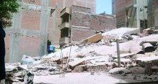 جانب من انهيار المنزل