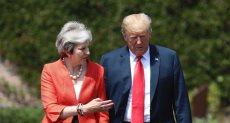 الرئيس الأمريكى دونالد ترامب، ورئيسة وزراء بريطانيا تريزا ماى.
