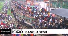 قطارات العيد فى بنجلاديش