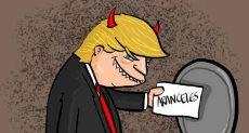 كاريكاتير ساخر من ترامب