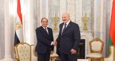 السيسي ورئيس بيلاروسيا