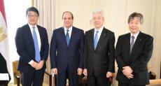 """لقاء الرئيس السيسي رئيس """"تويوتا"""""""
