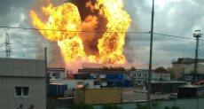 حريق ضخم فى محطة لتوليد الكهرباء بروسيا